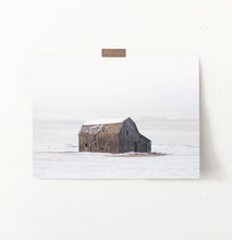 Load image into Gallery viewer, Winter Barn On Snow-Covered Field Wall Decor