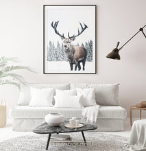 Load image into Gallery viewer, Black-framed with white sofa