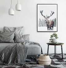 Load image into Gallery viewer, Black-framed in a white&gray bedroom