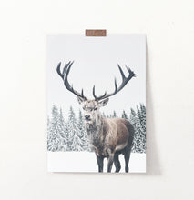 Load image into Gallery viewer, Great Horns Huge Deer On Winter Spacing Poster