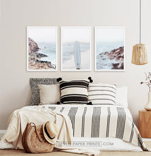 Load image into Gallery viewer, Rocky beach in white frames for bedroom