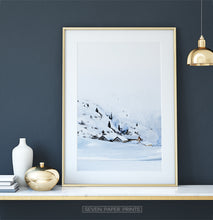 Load image into Gallery viewer, Golden-framed on a white marble shelf