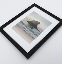 Load image into Gallery viewer, A framed print with rock in a stormy ocean
