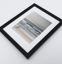 Load image into Gallery viewer, A framed print with a pelican on a coast