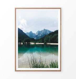 Canadian Mountain Forest Lake Photo Print