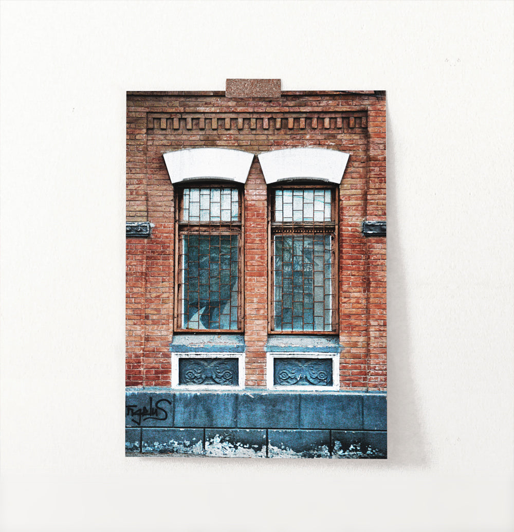 Old Architectural Window In Brick Building Art Photo