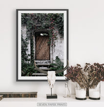 Load image into Gallery viewer, French Village Garden Door Gray Brick Wall Photo Art