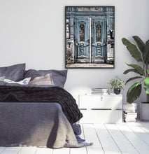 Load image into Gallery viewer, Modern Street Wall Art With Old Blue Vintage Door Print