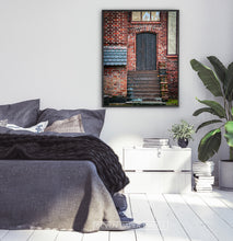 Load image into Gallery viewer, Brick House Door Granite Stairs Tiled Roof Photo Print