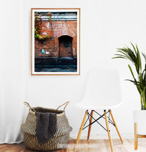 Load image into Gallery viewer, Red Wall Old Historical Town Facade Photography Poster