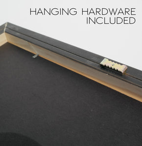 Hanging hardware included