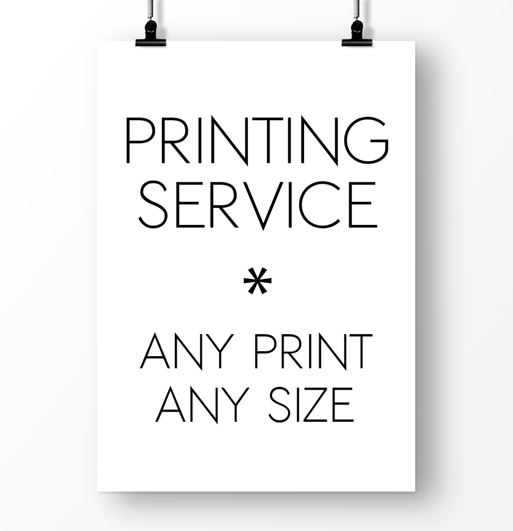 Mailed prints. Custom sizes. Printed and shipped. Printing Service