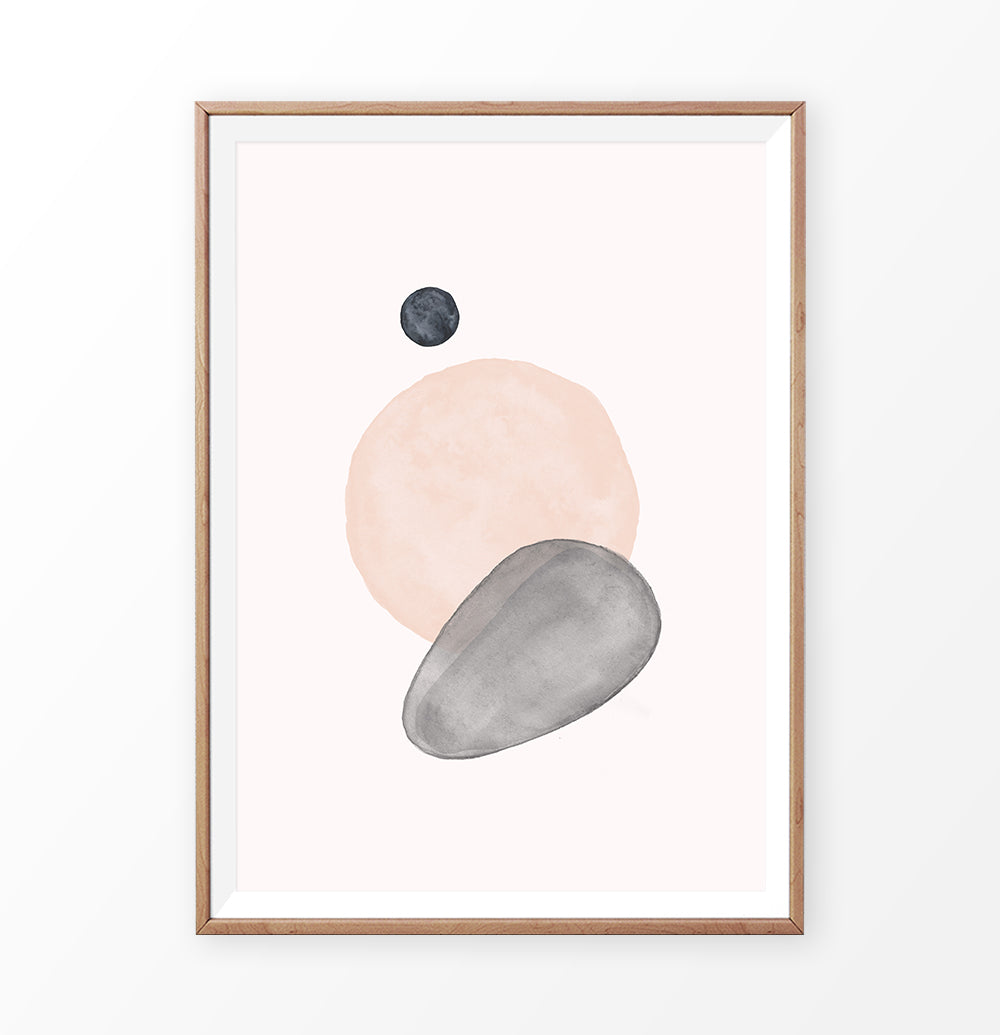 Earth Color Abstract Circles