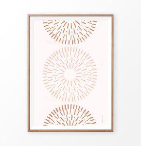 Tribal Circles Print