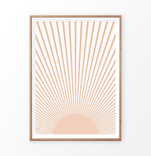 Load image into Gallery viewer, Sun Art Print in Boho Style