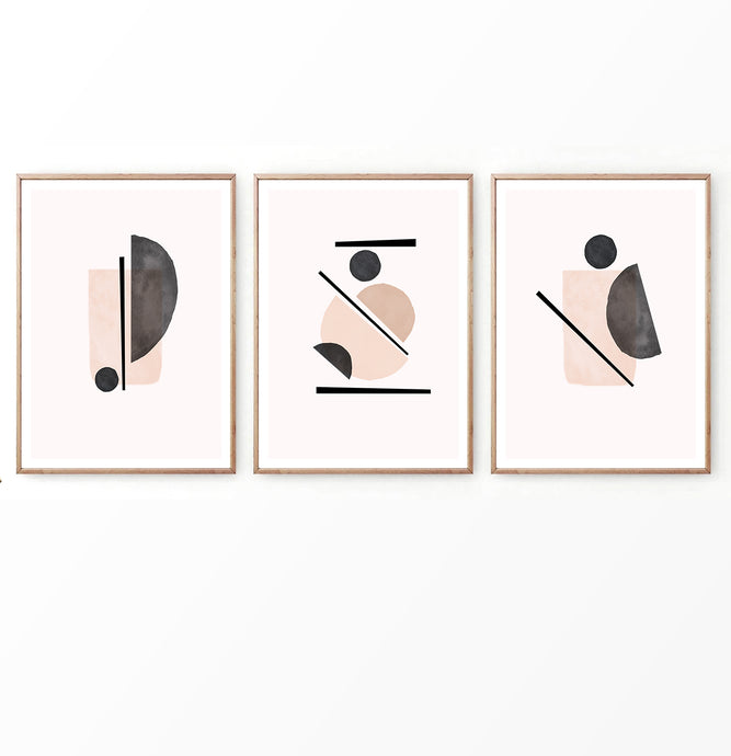 Set of 3 Abstract Prints