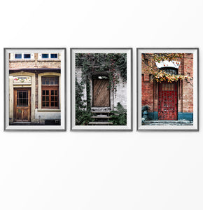 Vintage Farm Doors Photography in 3 Prints