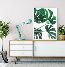 Load image into Gallery viewer, Monstera Green Leaves Set of 3 Deliciosa Prints