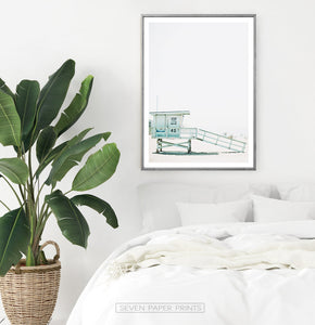 Ocean Beach Gray Wall Art Set of 6 Digital Prints