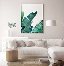 Load image into Gallery viewer, Green Banana Leaf Set of 3 Botanical Prints