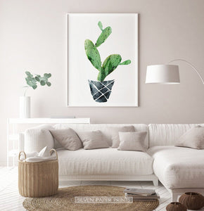 Cactus Wall Art Set of 3 Prints for Nursery