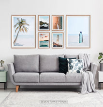 Load image into Gallery viewer, Beach Wall Art Set of 6 Oceanic Prints
