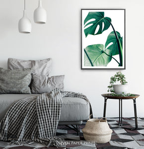 Monstera Green Leaves Set of 3 Deliciosa Prints