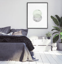 Load image into Gallery viewer, Full Moon Nordic Abstract Circle Wall Art