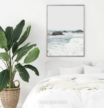 Load image into Gallery viewer, Ocean Rock Wall Art with Coastal Sea Water