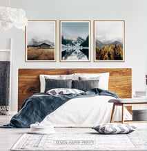Load image into Gallery viewer, Snowy Mountain Print Wall Art Set of 3 Posters