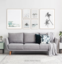 Load image into Gallery viewer, Ocean Beach Gray Wall Art Set of 6 Digital Prints