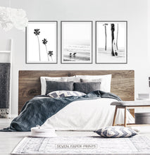 Load image into Gallery viewer, Black and White Surfing Wall Art Set of 3 Prints