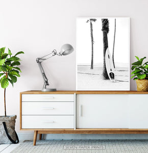 Black and White Surfing Wall Art Set of 3 Prints