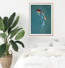 Load image into Gallery viewer, Colorful Canoe Boats in the Sea Print