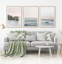 Load image into Gallery viewer, Ocean Waves Wall Art Set of 3 Prints