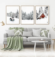 Load image into Gallery viewer, Christmas Decoration Gallery Set of 3 Piece Wall Art