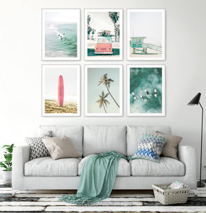 Coastal Wall Art Set of 6 Mailed Prints