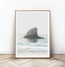 Load image into Gallery viewer, Coastal Rock Sea Wall Art with Beach Waves