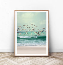 Load image into Gallery viewer, Seagulls on Waves of the Ocean
