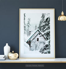 Load image into Gallery viewer, Winter Gallery Wall Decor Set of 6 Prints with Moose