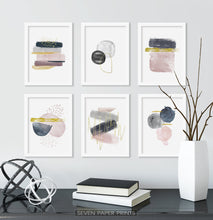 Load image into Gallery viewer, Abstract Minimalist Watercolor Set of 6 Prints