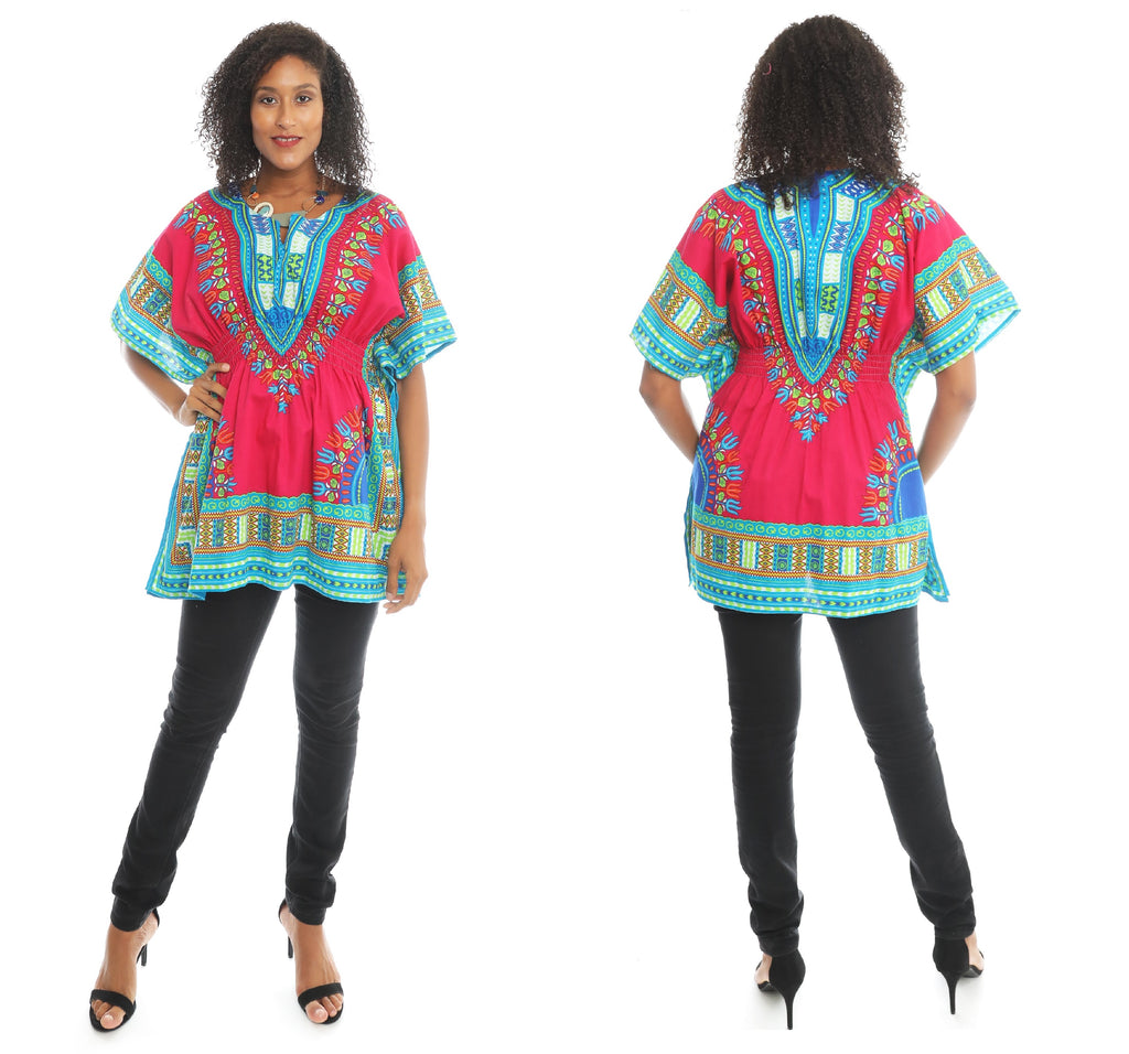 NLM-1101 PRE-PACK) Dashiki Top with Elastic Waist (8-Pcs PRE-PACK)($6 Each)