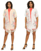 16161- Cotton-Blend Lightweight Short-Sleeve Fringe Cardigan (6-PCS PRE-PACK)