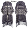 16172 - Heavyweight Sweater Poncho with Fringes - (6-PCS PRE-PACK) ($15.00 Each)