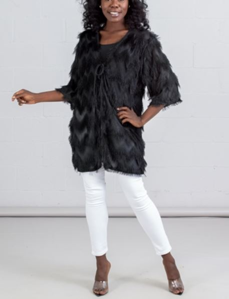 CHH19081- Fringed Tie Front Cardigan - (6-PCS PRE-PACK) ($20 Each )