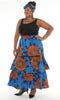 218 - Ankara Print Multi Tiered Skirt (3/pk) - Free Size - ON SALE - $15.00 Each