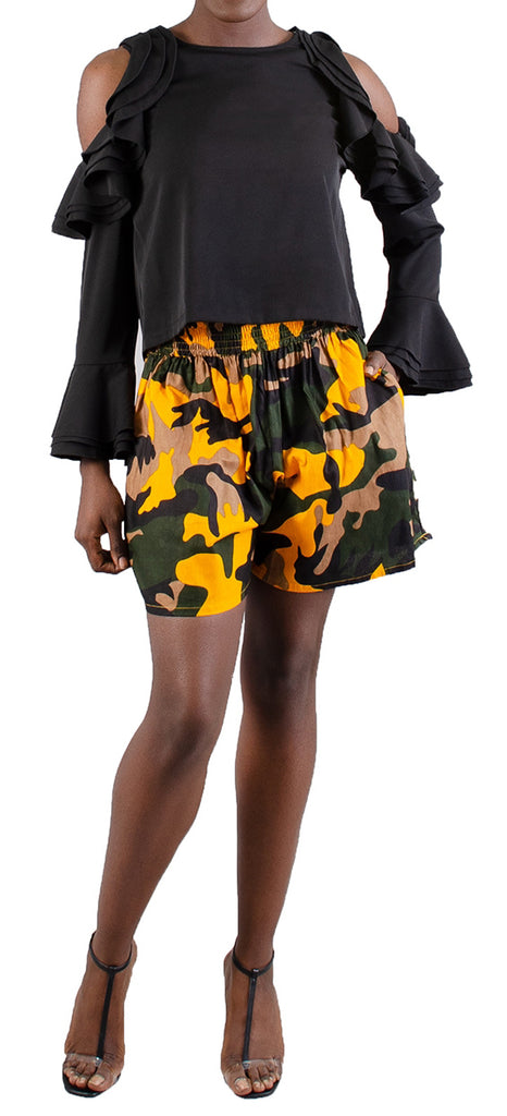 508 - Ankara Palazzo Shorts (3 PCS PRE-PACK) - ON SALE - $6 Each - $18.00/PK