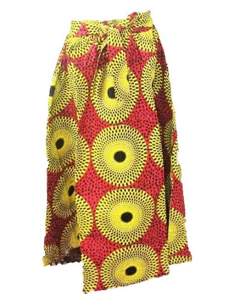 6011A - 3-Panel Elastic Long African Print Skirt (3/pk) - Free Size - $12.00 Each