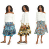 Copy of 7009 - Ankara Skirt Dashiki Print  African Wax Skirt (3-PCS PRE-PACK) - $12.00 Each