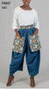 7219 - Ankara Print Big Pocket Print Denim Pants (3 PCS PRE-PACK) - ON SALE!!! Only $15 Each
